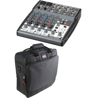 Behringer XENYX 802 8-Channel Mixer with Padded Bag Kit