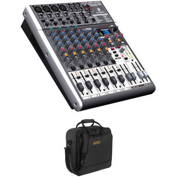 Behringer XENYX X1204USB 12-Channel USB Mixer with Padded Bag Kit
