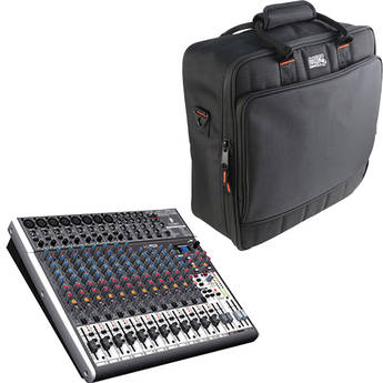 Behringer XENYX X2222USB 22-Channel USB Mixer with Padded Bag Kit
