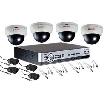 Bosch 8-Channel Digital Video Recorder (500 GB) with (4) VDC-250F04-20 Indoor Day/Night Dome Cameras Kit