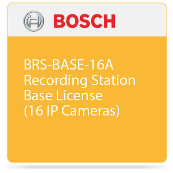 Bosch BRS-BASE-16A Recording Station Base License (16 IP Cameras)