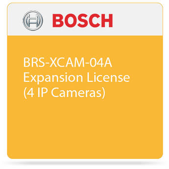 Bosch BRS-XCAM-04A Expansion License (4 IP Cameras)