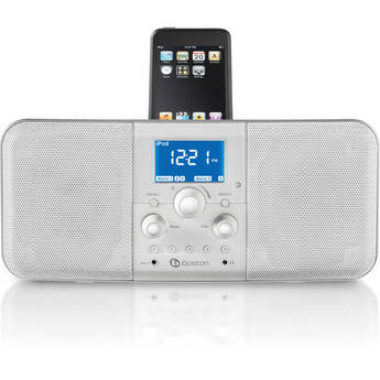 Boston Acoustics Duo-i plus AM/FM Stereo Radio with iPhone/iPod Dock (White)