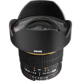 Bower 14mm f/2.8 Ultra Wide Angle Manual Focus Lens for Nikon Digital SLR Cameras