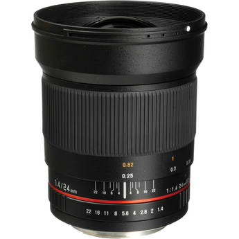 Bower 24mm f/1.4 Wide-Angle Lens for Canon