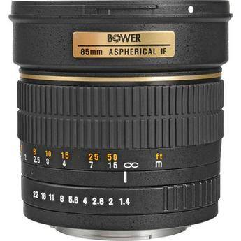 Bower 85mm f/1.4 Manual Focus Telephoto Lens for Canon EOS