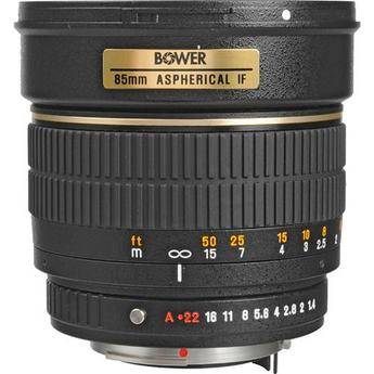Bower 85mm f/1.4 Manual Focus Telephoto Lens for Pentax