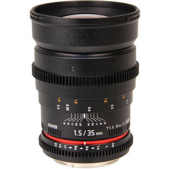 Bower 35mm T1.5 Cine Lens for Sony Alpha