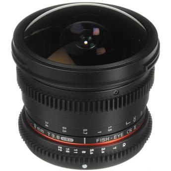 Bower 8mm T/3.8 Fisheye HD Cine Lens for Sony A DSLR Mount