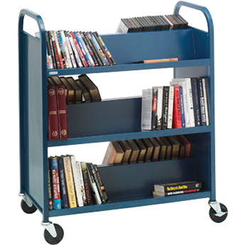 Bretford 6-Shelf Heavy-Duty Steel Booktruck (Cardinal)