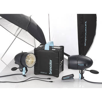 Broncolor Move 1200 L Battery Power Pack with 2 MobiLED Flash Heads