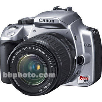 Canon EOS Digital Rebel XT (a.k.a. 350D)Digital Camera (Silver) w/ 18-55mm Lens