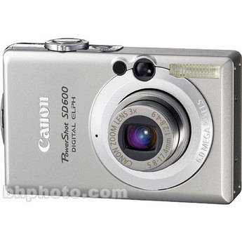 Canon PowerShot SD600 Digital Elph Digital Camera