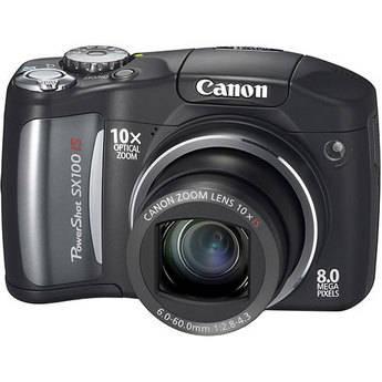 Canon PowerShot SX100 IS Digital Camera (Black)