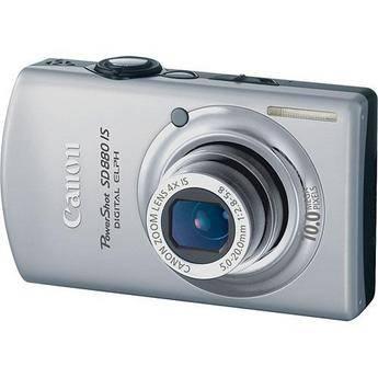 Canon PowerShot SD880 IS Digital ELPH Digital Camera (Silver)