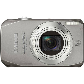 Canon PowerShot SD4500 IS Digital ELPH Camera (Silver)