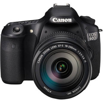 Canon EOS 60D DSLR Camera Kit with Canon EF-S 18-200mm IS Lens