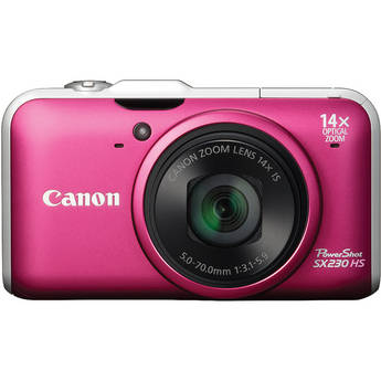 Canon Powershot SX230 HS Digital Camera (Red)