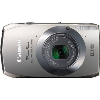 Canon Powershot 500 HS Digital ELPH Camera (Silver)