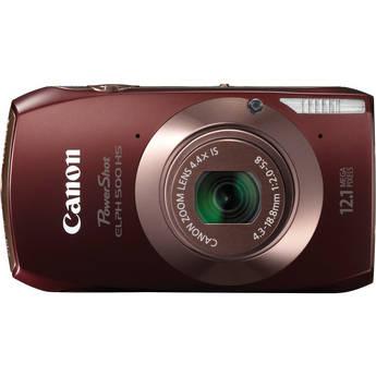 Canon Powershot 500 HS Digital ELPH Camera (Brown)