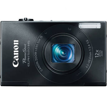 Canon PowerShot ELPH 520 HS Digital Camera (Black)