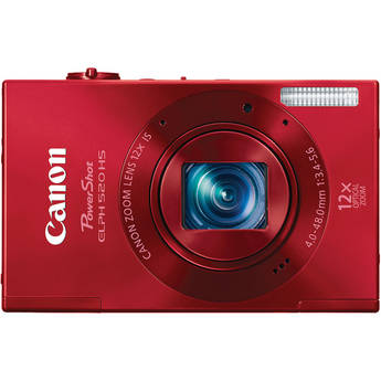 Canon PowerShot ELPH 520 HS Digital Camera (Red)