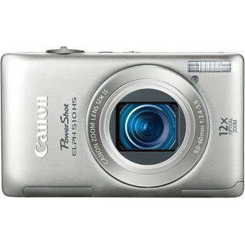 Canon PowerShot ELPH 510 HS Digital Camera (Silver)
