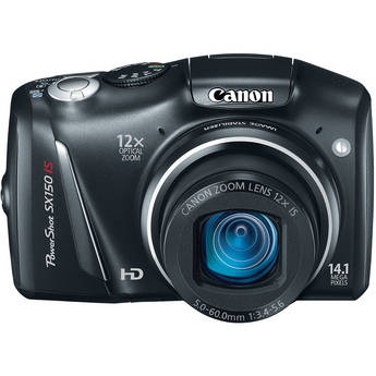 Canon PowerShot SX150 IS Digital Camera (Black)