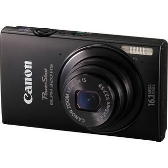 Canon PowerShot ELPH 320 HS Digital Camera (Black)