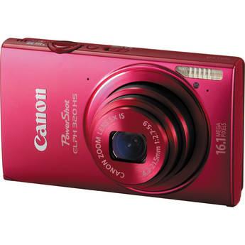 Canon PowerShot ELPH 320 HS Digital Camera (Red)