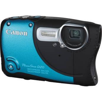Canon PowerShot D20 Waterproof Digital Camera (Blue)