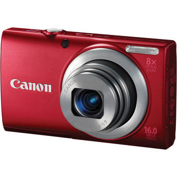 Canon PowerShot A4000 IS Digital Camera (Red)