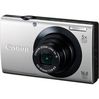 Canon PowerShot A3400 IS Touch Screen Digital Camera (Silver)