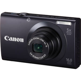 Canon PowerShot A3400 IS Touch Screen Digital Camera (Black)