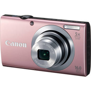 Canon PowerShot A2400 IS Digital Camera (Pink)