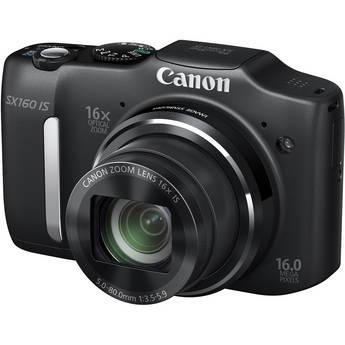 Canon PowerShot SX160 IS Digital Camera (Black)