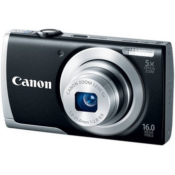 Canon PowerShot A2600 Digital Camera (Black)