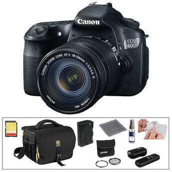 Canon EOS 60D Digital SLR Camera with 18-135mm Lens & Basic Accessory Kit