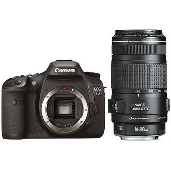 Canon EOS 7D SLR Digital Camera with 70-300mm f/4-5.6 IS USM Lens