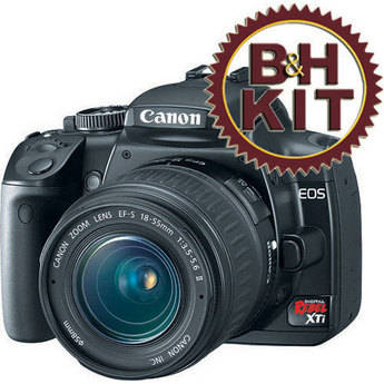 Canon EOS Digital Rebel XTi Digital Camera Kit (Black) with 18-55mm Lens and Lexar 2GB CF Card