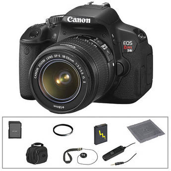 Canon EOS Rebel T4i Digital Camera with 18-55mm Lens & Basic Accessory Kit