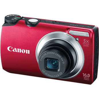 Canon Powershot A3300 IS Digital Camera (Red)