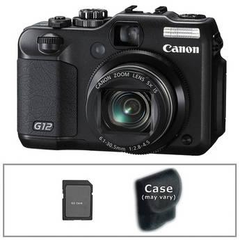 Canon PowerShot G12 Digital Camera with Basic Accessory Kit