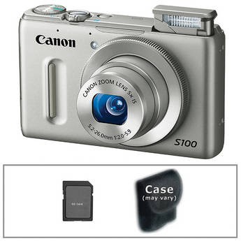 Canon PowerShot S100 Digital Camera with Basic Accessory Kit (Silver)