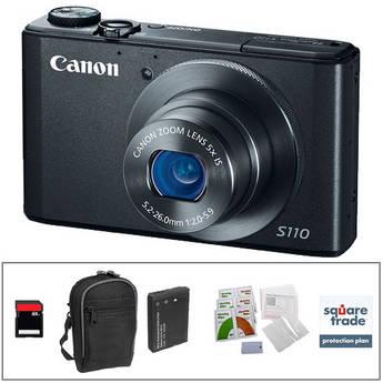 Canon PowerShot S110 Digital Camera Deluxe Kit (Black)