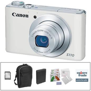 Canon PowerShot S110 Digital Camera Deluxe Kit (White)