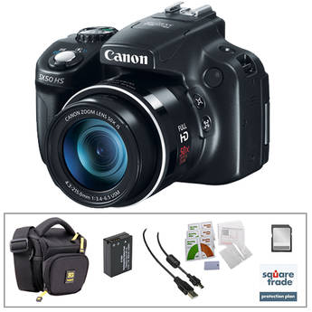 Canon PowerShot SX50 HS Digital Camera with Deluxe Accessory Kit
