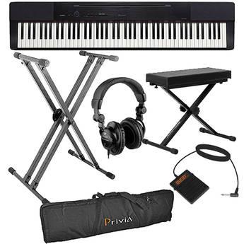 Casio PX-150 88-Key Piano Essentials Bundle (Black)