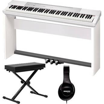 Casio PX-150 88-Key Piano Home Studio Bundle (White)