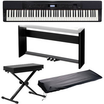 Casio PX-350 88-Key Piano Home Studio Bundle (Black)